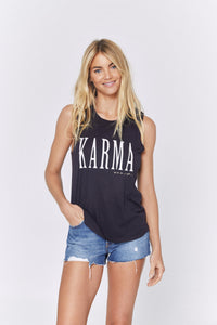 Karma sleeveless tank