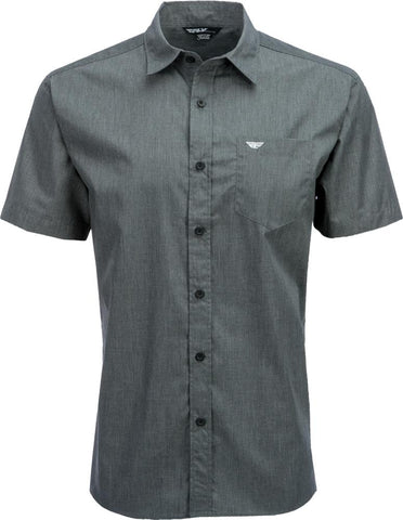 Button Up Shirt Dark Grey 2x