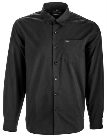 L-s Button Up Shirt Black M
