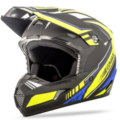 Mx46 Uncle Helmet Flat Black-hi-vis-blue 2x