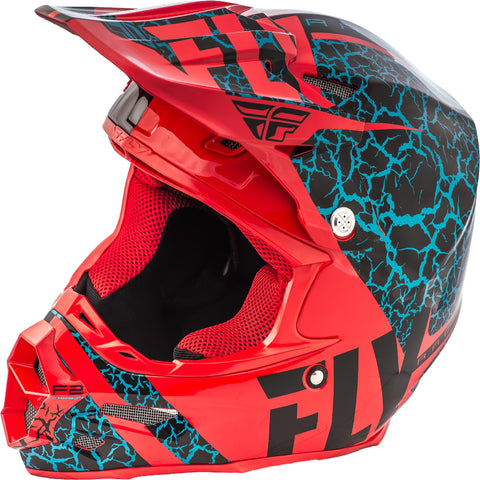 F2 Carbon Fracture Helmet Black-red-light Blue S