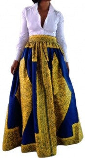 Royal Ankara print Skirt - Couture Stalker