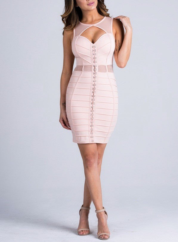 Peek A Boo Bustier Dress - Couture Stalker
