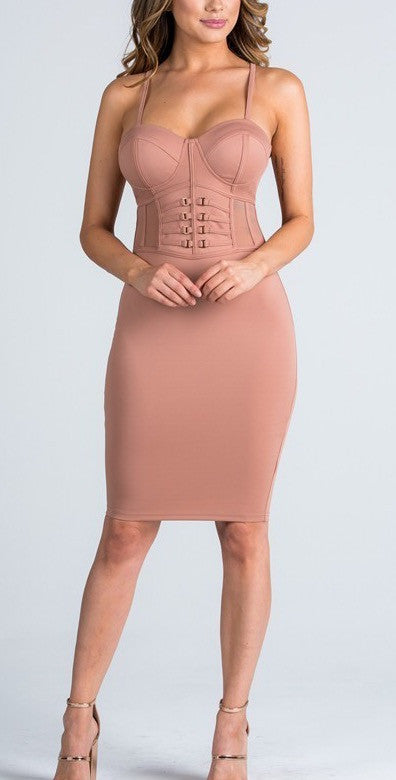 Side Panel Bustier dress - Couture Stalker
