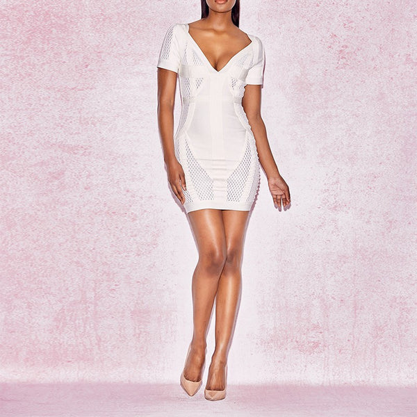 Mesh Mini Bandage Dress - Couture Stalker
