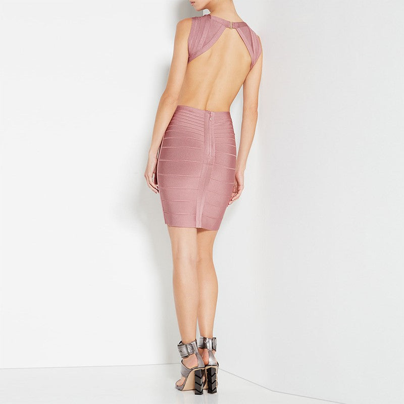Backless Bandage Dress - Couture Stalker