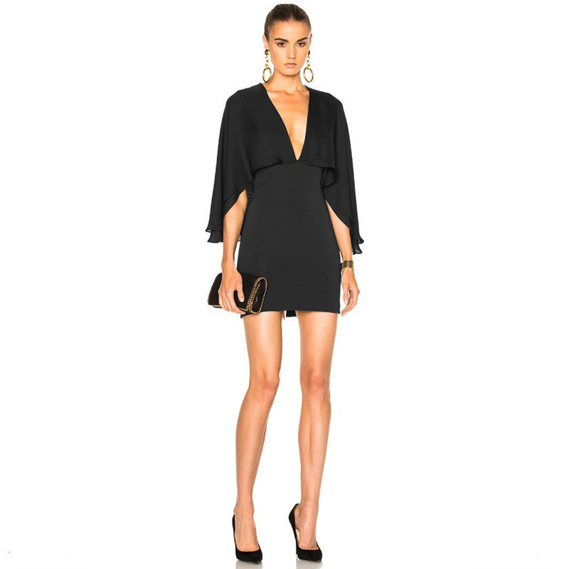 Mini Bandage Cape Dress - Couture Stalker