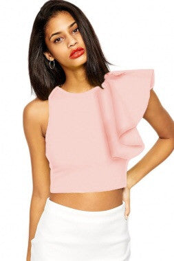Ruffle Crop Top - Couture Stalker