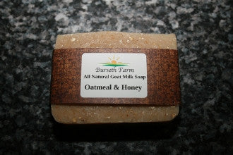 Oatmeal & Honey Natural Goat Milk Soap