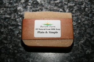 Plain & Simple Natural Goat Milk Soap