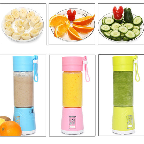Portable USB Electric Juicer Bottle Handheld Smoothie Maker Rechargeable Juice Blender