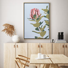 "Load image into Gallery viewer, ""Scarlet Banksia"" - fine art giclee canvas print"