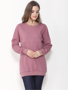 Two-Way Front Zip Jumper for Maternity & Nursing