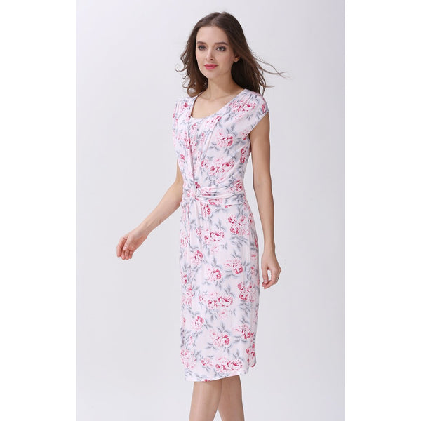 Modal Faux Wrap Nursing Maternity Dress