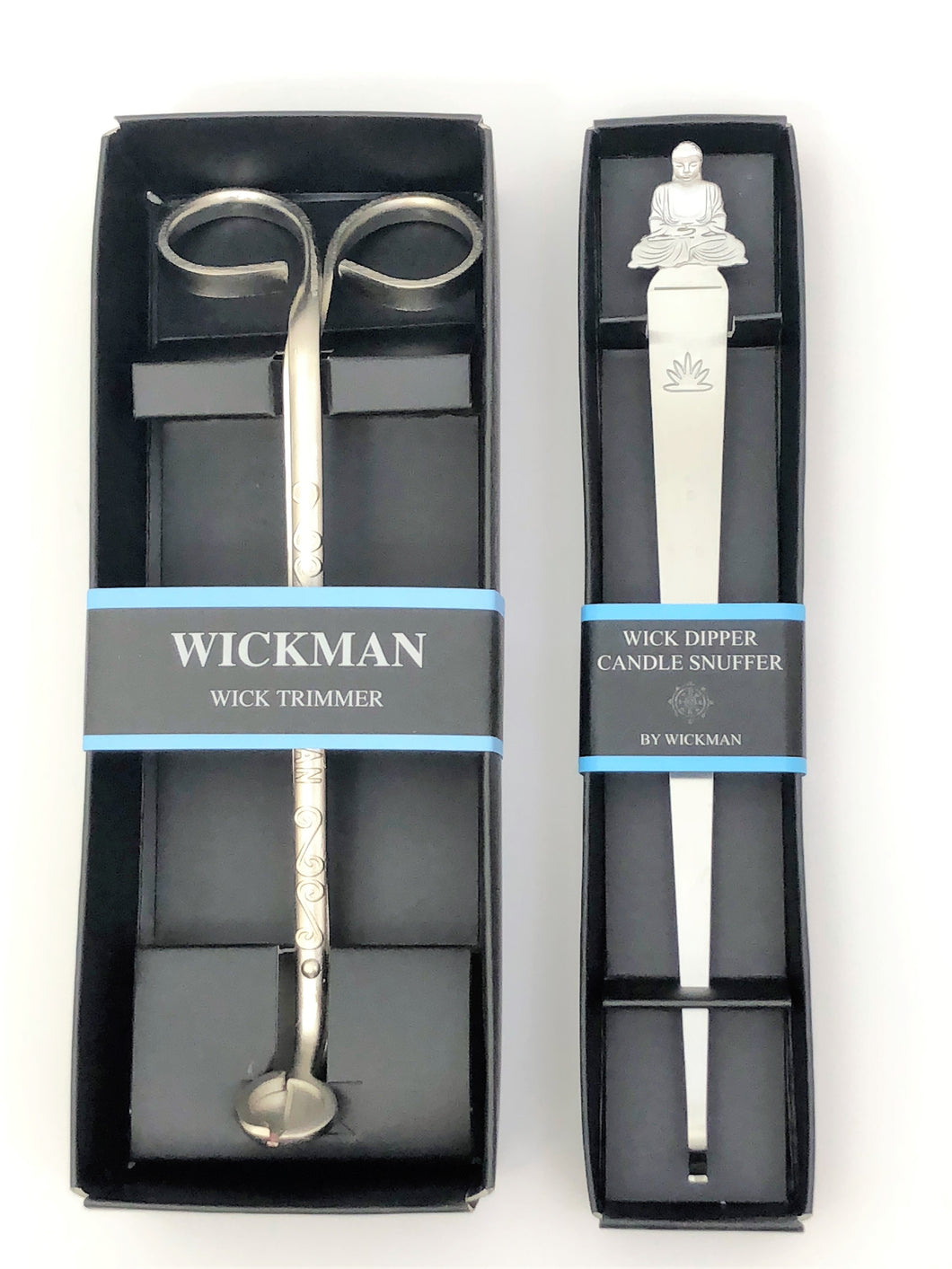 Original Wick Trimmer Boxed and Wick Dipper Buddha Motif Snuffer - WTWD05