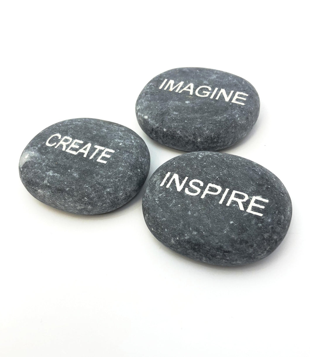 Engraved Stones Set of 3