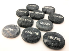 Engraved Stones with Inspirational Word Engraving - 10 Total