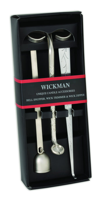 Wickman Gift Set of 3 with Wick Trimmer Wick Dipper and Candle Snuffer