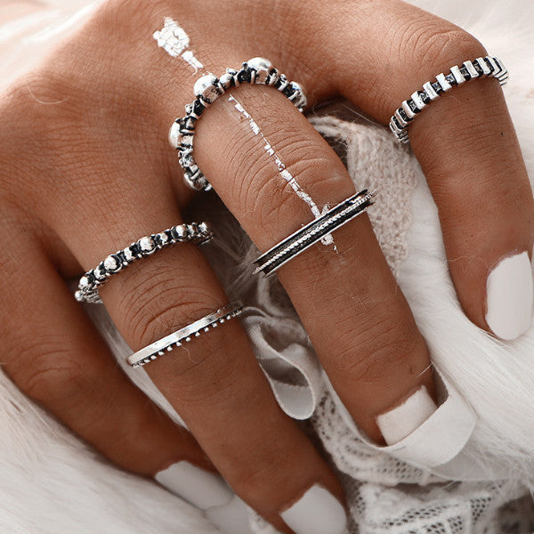 Xyleena Antique Silver Color Rings
