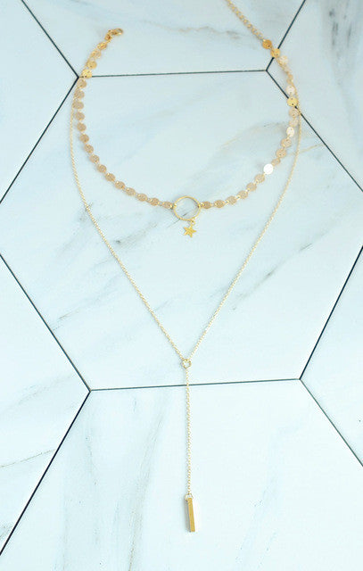 Zanthe chain with star Y design choker necklace