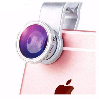 Fisheye Wide Angle Macro Camera 3-In-1 Lens with Clip for Mobile Phones