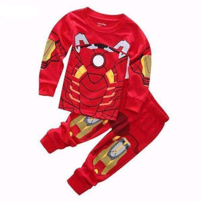 Marvel Ironman Cotton Long Sleeve Pijamas for Boys [Red & Yellow Models]