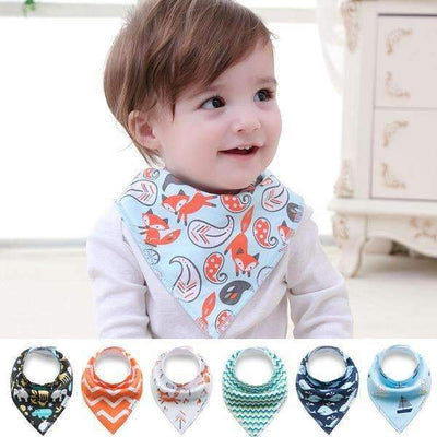 New Arrival! Cool Basics Soft Cotton Fiber Double Layer Bandana Bib for Baby Boys, Baby Boy Bibs - Peeksify.com