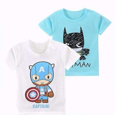 Cute Baby Cartoons Summer Cotton Short Sleeve T-Shirt for Baby Boys - Peeksify.com