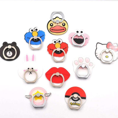 Cartoon Anime 360 Degree Finger Ring Smartphone Pop Stand Holder - Peeksify.com