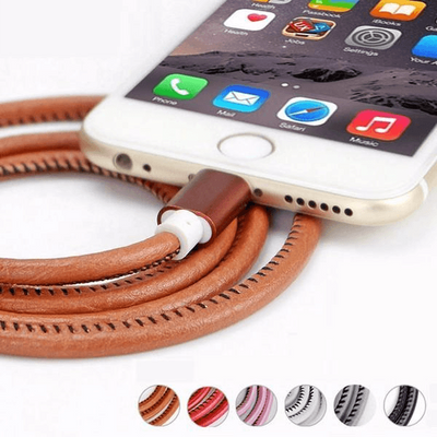 Super Strong Leather Metal Lightning USB Cable cro USB Cable for iPhone 7/6S/6/Plus/5S/5C/5 iPad - Peeksify.com