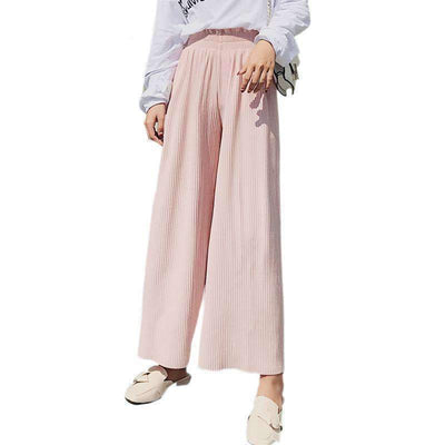 High Waist Pleated Wide Leg Loose Casual Palazzo Pants