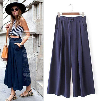 New Spring Loose Thin Chiffon Wide Led Palazzo Pants