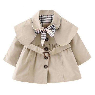 England Style Solid Color Turn-Down Collar Coat for Girls - Peeksify.com