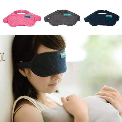 Soft Cotton Comfortable Sleeping Eye Mask with Travel Pouch [3 Colors Available] - Peeksify.com