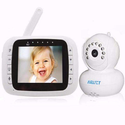 "Wireless 3.5"" LCD Baby Video Audio 2-Way Voice PAN Tilt & Night Vision Baby Monitor - Peeksify.com"
