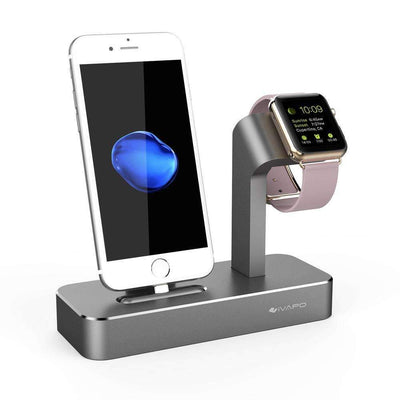 Solid Aluminum Charging Dock Station for Apple Watch and iPhone 6s/6s plus 7/ 7 Plus - Peeksify.com