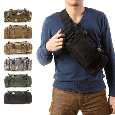 Outdoor Sports Tactical Waist Pack 3L Waterproof Oxford Pouch, Sports Accesories - Peeksify.com