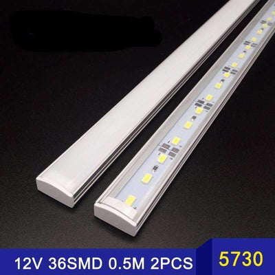 Led strip lights peeksify new 2pcsx50cm 5730 dc 12v rigid led strip lights with cover led strip lights aloadofball Choice Image
