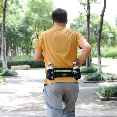 Outdoor Sports Running Belt Bag With 2 Water Bottle Holders, Sports Accesories - Peeksify.com