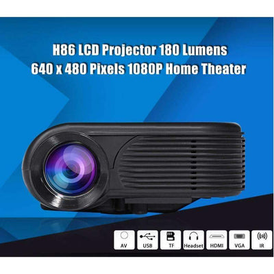 H86 1000 Lumens 640x480 Pixels 1080P Max 1920x1080 Home Theater HD LED Projector, LED Mini Projectors - Peeksify.com