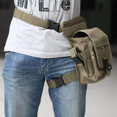 Outdoors Waterproof Tactical Stylish Military Solid Utility Waist and Leg Pouch, Sports Accesories - Peeksify.com