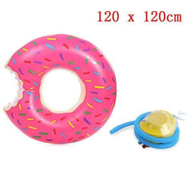 Summer Inflatable Giant Swimming Pool Floating Doughnut with Pump - Peeksify.com