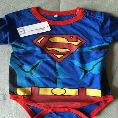 Cool Super Heroes Cotton Short Sleeve Costume Bodysuit for Baby Boys - Peeksify.com