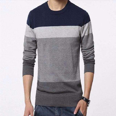 Winter Slim Fit Round O-Neck Wool Knitted Sweater for Men - Peeksify.com