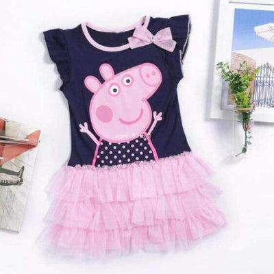 PEPPA PIG Short Sleeve Tutu Casual Dress for Girls, Girl Dresses - Peeksify.com