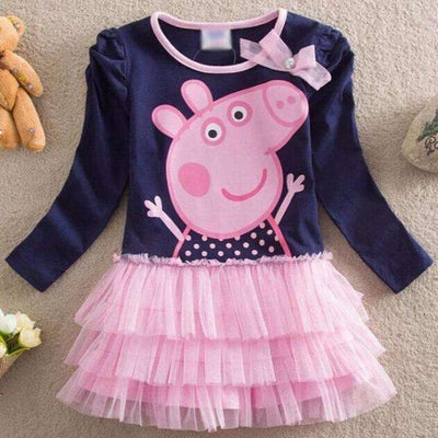 PEPPA PIG Long Sleeve Tutu Casual Dress for Girls, Girl Dresses - Peeksify.com