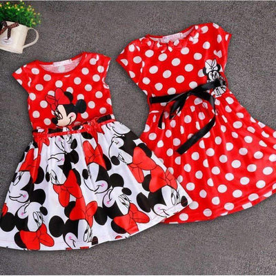 Minnie Mouse Printed Party Dress for Girls [3 Models Available], Girl Dresses - Peeksify.com