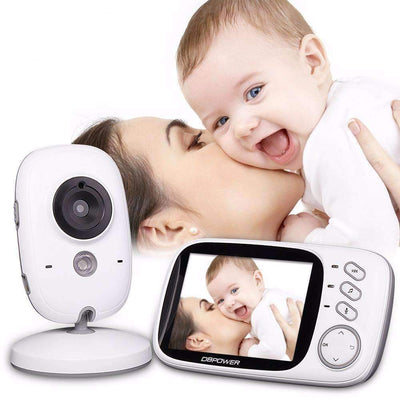 "2.4Ghz Wireless 3.2"" Baby Monitor with 2-Way Audio 5M IR & Temperature Sensor - Peeksify.com"