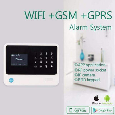 Home Security Wireless GSM WiFi Alarm System [iOS & Android Compatible] - Peeksify.com