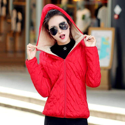 Fashion Fleece Hooded Winter Casual Warm Jacket for Women [S-XXL Available Sizes], Women Jackets - Peeksify.com